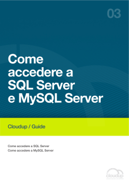 Come accedere a SQL Server e MySQL Server 03