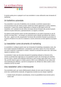 Un bollettino aziendale La newsletter come strumento di marketing