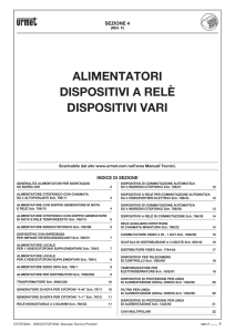 ALIMENTATORI DISPOSITIvI A RELÈ DISPOSITIvI vARI