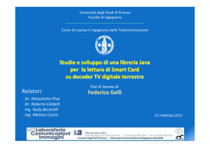 Le Smart Card - Università degli Studi di Firenze