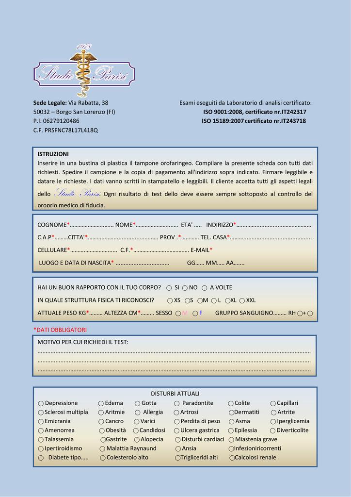 Datazione residente medico