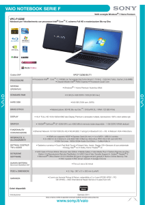 vaio notebook serie f - Community