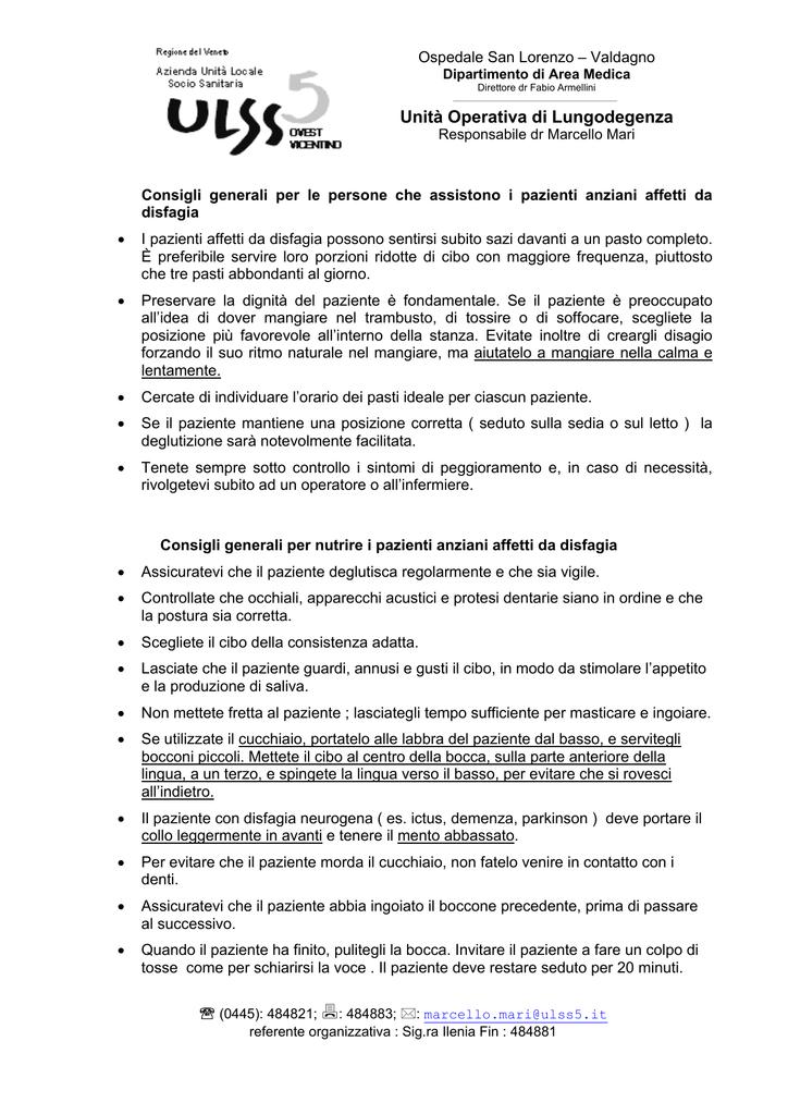 dieta per disfagia pdf