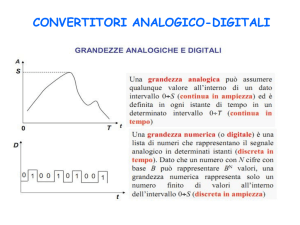CONVERTITORI ANALOGICO