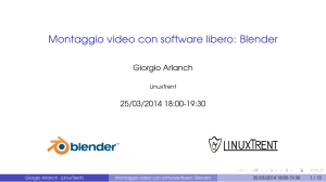 appunti montaggio video con blender