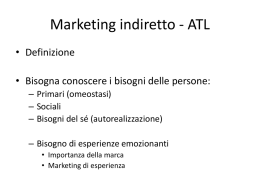 Marketing indiretto - ATL