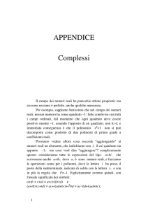Complessi - Math Unipd