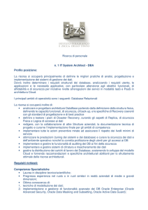 Ricerca di personale n. 1 IT System Architect