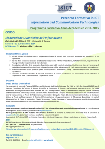 Percorso Formativo in ICT Information and Communication