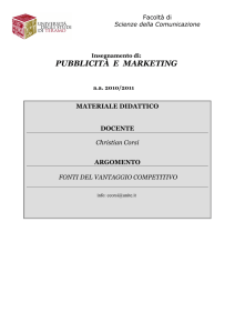 pubblicità e marketing