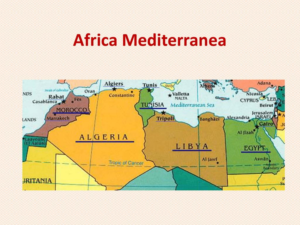 Cartina Fisica Dell Africa Mediterranea.Africa Mediterranea Scuola Dame Inglesi