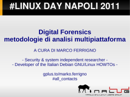 #LINUX DAY NAPOLI 2011