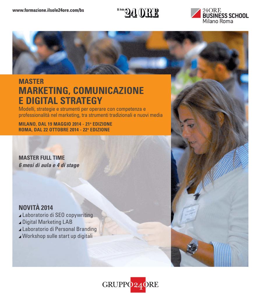 349434fe90 ... strategie e strumenti per operare con competenza e professionalità nel  marketing, tra strumenti tradizionali e nuovi media MILANO, DAL 19 MAGGIO  2014 ...
