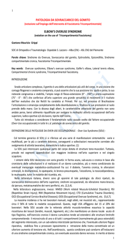 Over-use del gomito e Fasciotomia Tricompartimentale pdf