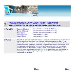JAVANETPHONE: A JAVA CLIENT FOR IP TELEPHONY