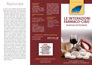 Brochure Farmaco cibo