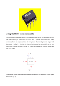 L`integrato NE555 come monostabile