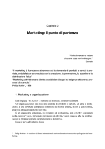 Marketing: il punto di partenza