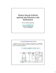 Sistemi Neurali Artificiali applicati alla Robotica 1
