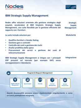 IBM Strategic Supply Management