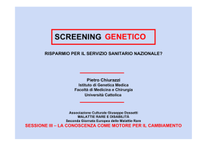 screening neonatale genetico