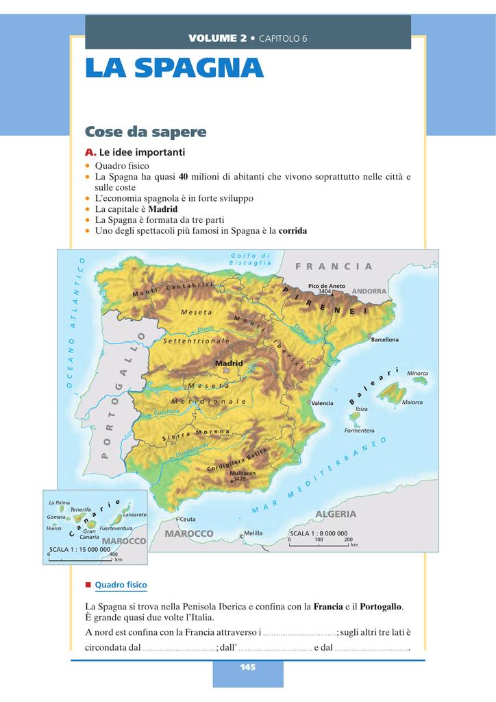 Cartina Geografica Spagna E Formentera.Spagna Cartina Citta