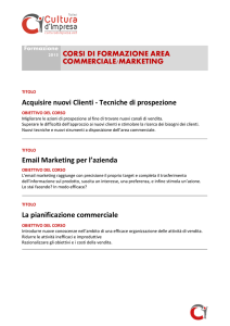 2015 CORSI DI FORMAZIONE AREA COMMERCIALE/MARKETING