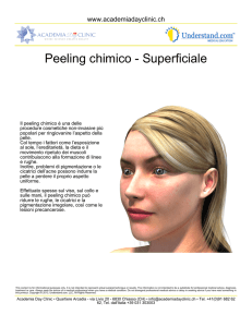 Peeling chimico - Superficiale
