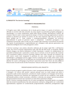 "IL PROGETTO ""Pro Service Learning"" DOCUMENTO"