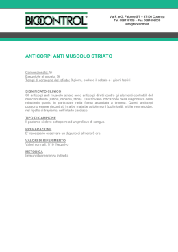anticorpi anti muscolo striato