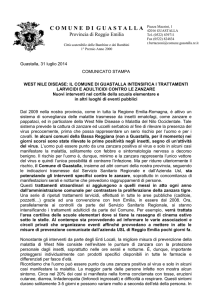 west nile disease - Comune di Guastalla