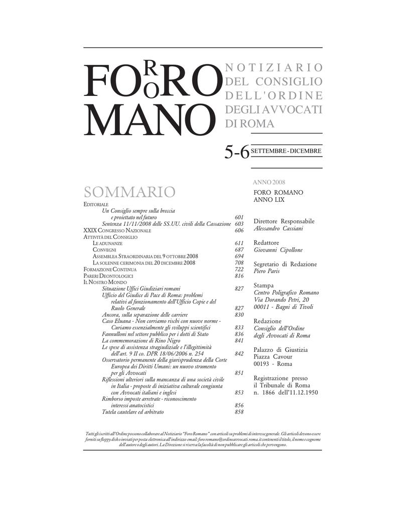 96526b7b85 sommario - Ordine Avvocati Roma