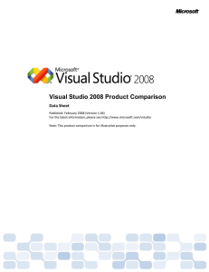 Visual Studio 2008 Product Comparison - M-Link