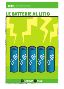 LE BATTERIE AL LITIO