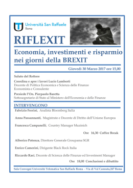 riflexit - Università San Raffaele