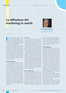 La diffusione del marketing in sanità