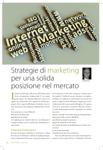 Italia a Tavola marzo 2013 Strategie di marketing