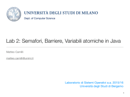 Lab 2: Semafori, Barriere, Variabili atomiche in Java