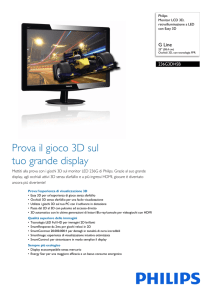 236G3DHSB/00 Philips Monitor LCD 3D, retroilluminazione a LED