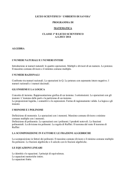 liceo scientifico ` umberto di savoia`