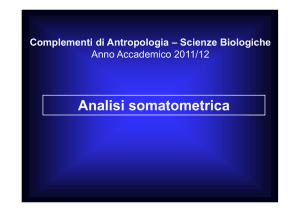 Analisi somatometrica