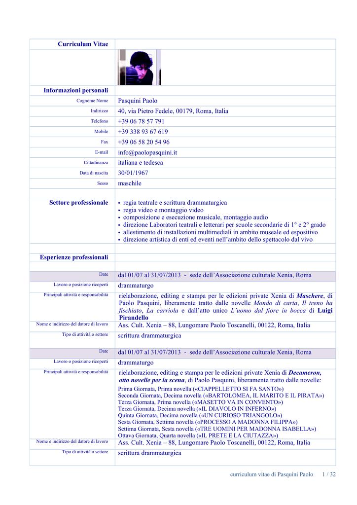 CV pour lavoro dating