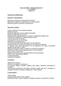 Matematica - Liceo Scientifico Guido Castelnuovo