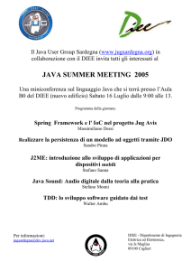 JavaSummerMeeting2005 - Java User Group Sardegna