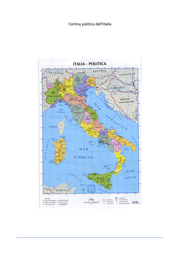 Trentino Alto Adige Cartina Fisica E Politica.Cartina Politica Dell Italia