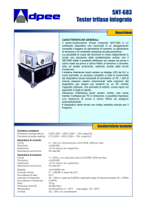 SNT-683 Tester trifase integrato