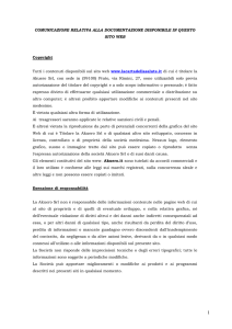 Policy Copyright - La Carta della Salute