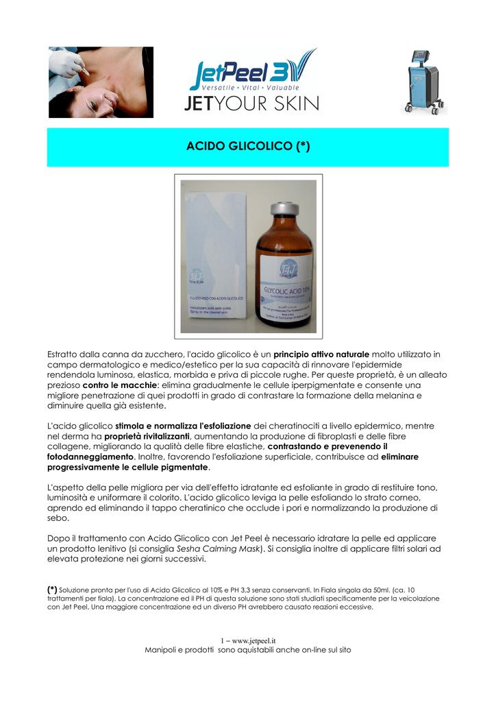Acido glicolico uso medico