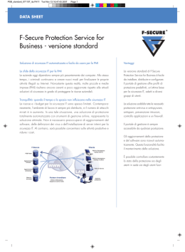 F-Secure Protection Service for Business - versione standard
