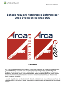 Arca Requisiti Hardware e Software